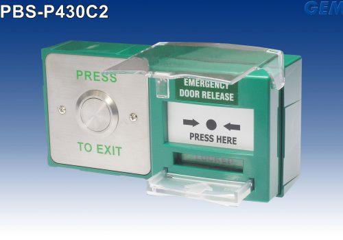 GEM Gianni- PBS-P430C2 Çift Üniteli Çıkış & Acil Çıkış Butonu